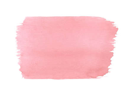 Hand painted pink watercolor texture isolated on the white background. Usable for cards, wedding invitations and more.