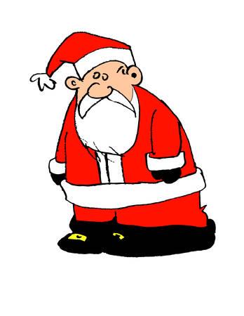 Cartoon Santa Claus Ilustração