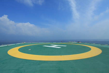 Helicopter deck. Stock Photo - 8729250