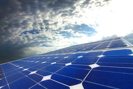 monocrystalline: Solar cell Stock Photo