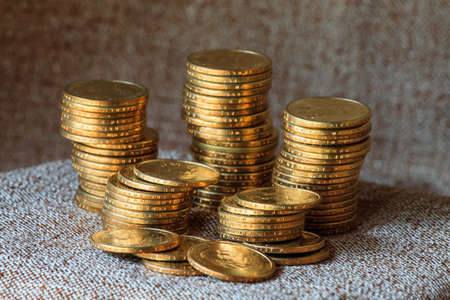 takings: Gold coin Stock Photo