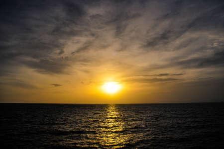 generic location: Sunset or Sunrise on the sea Stock Photo