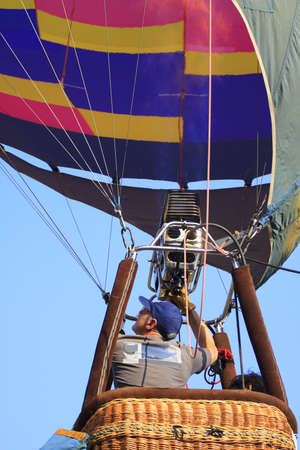 Balloon festival ,Crews operation and prepared balloon to fly in the sky
