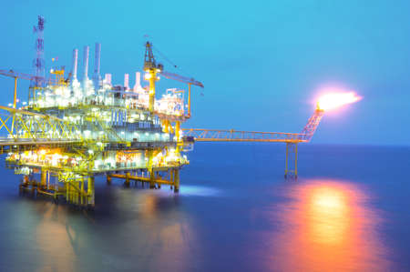 Oil and rig