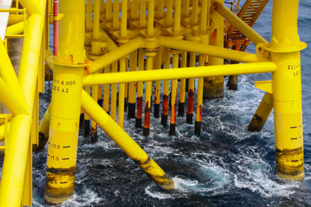 Oil and Gas Producing Slots at Offshore Platform photo