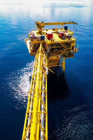 offshore oil and gas platform Stock Photo