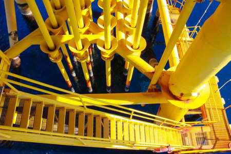 Oil and Gas Producing Slots at Offshore Platform - Oil and Gas Industry photo