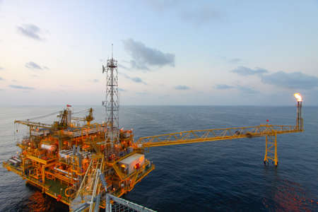 offshore industry: Oil and gas platform in offshore,World energy, The construction for petroleum society