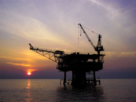 Oil and gas platform in offshore,World energy, The construction for petroleum society