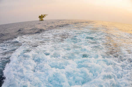 The platform in offshore oil and gas society The platform in the ocean or in the gulf photo