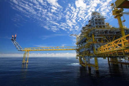 natural gas: Oil and gas platform in offshore in the sea