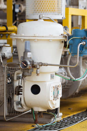 Control valve or pressure regulator in oil and gas process, The control valve used to controlled pressure in the system as Controller command, Oil and gas industry use the control valve to controlled the system
