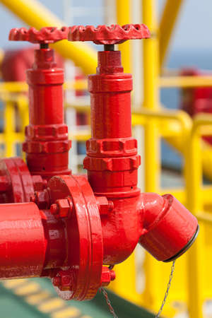 Fire valve,installation of fire safety,Security fire system in industry  or the process photo