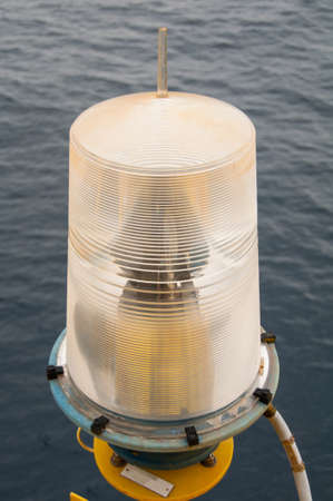 navigation aid: Navigation aid on the platform in offshore, Signal in marine, Light to show subject in the sea on night