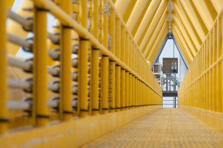 gangway: Gangway or walkway linked between production platform and living quarter