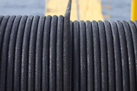 coiled rope: Rope sling,used in hard work or crane operation job