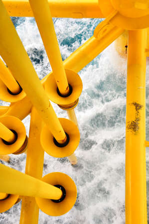 Oil and Gas Producing Slots at Offshore Platform, The platform on bad weather condition.,Oil and Gas Industry photo