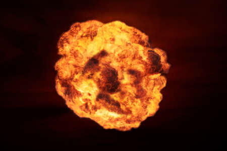 meltdown: Nuclear explosion in an outdoor setting. Symbol of environmental protection and the dangers of nuclear energy