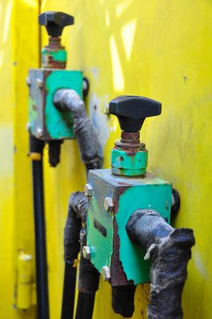 hydraulics: hydraulics equipment, hydraulics system in industry or hard work.