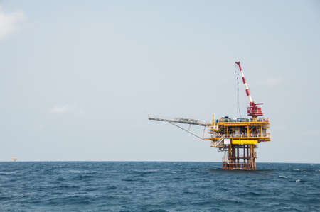 Production platform in offshore oil and gas industry.