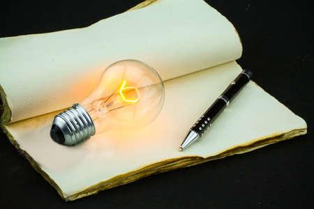 new idea: Idea on memories, New idea on vintage note or memories. Stock Photo