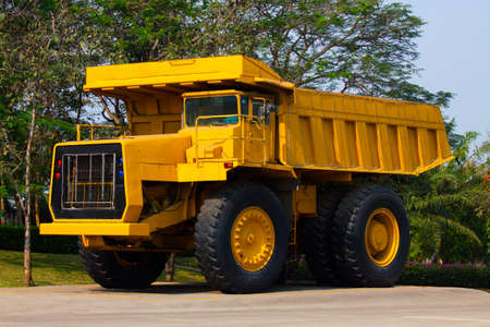 heavy industry: Heavy mining truck in mine and driving along the opencast. Photo of the big mine truck, The career heavy-load super car.