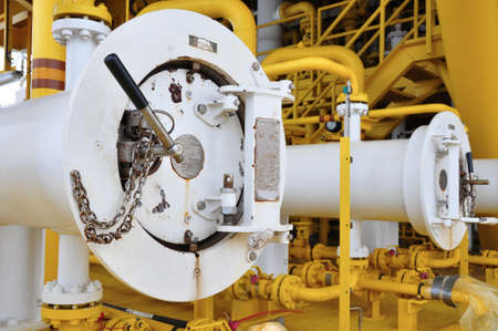 Pig luncher in oil and gas industry, Cleaning pipe line equipment in oil and gas industry photo
