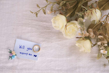 will you marry me: Will you marry me background, Wedding studio concept.