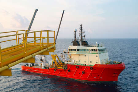 Supply boat operation shipping any cargo or basket to offshore. Support transfer any cargo to offshore oil and gas industry, Supply cargo or transfer passenger for work.