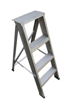 ladder: Ladder Isolated on white background, Industry tools on work site, Worker used ladder for work with subject on high position.