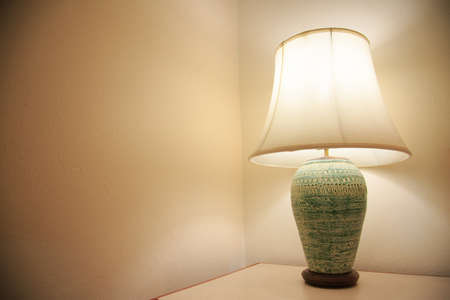 private room: Vintage lamp on the room, Romantic feeling in private room, Interior equipment of house.