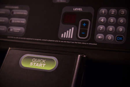 triggers: Start and Stop push bottom on the machine, Selector fitness room. Function on Treadmill belt.