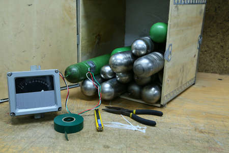 time bomb, improvised explosive devices prepared for mission, bomb operation.