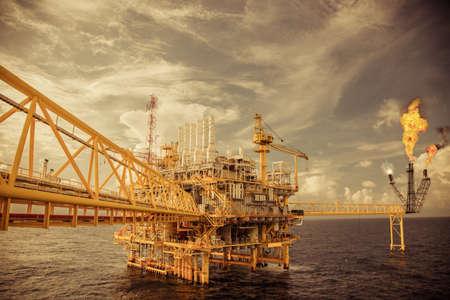 construction platform: Offshore construction platform for production oil and gas Stock Photo