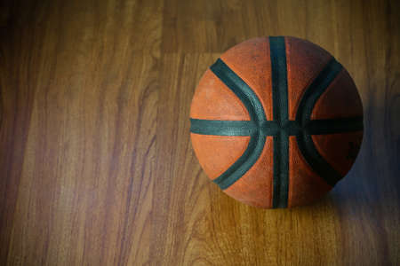 tourney: basketball on court or wooden, popular sport with team Stock Photo