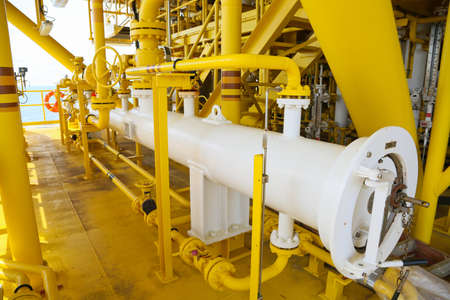 oil and gas industry: Pig luncher in oil and gas industry, Cleaning pipe line equipment in oil and gas industry