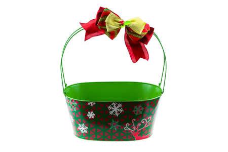 Geschenkkörbe oder leer Geschenk für Packung gesetzt. Geschenk-Box auf weißem Hintergrund.