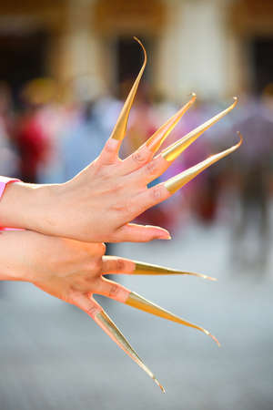 thai nail dance at chiangmai province.Thai culture showing in Holiday. Stock Photo