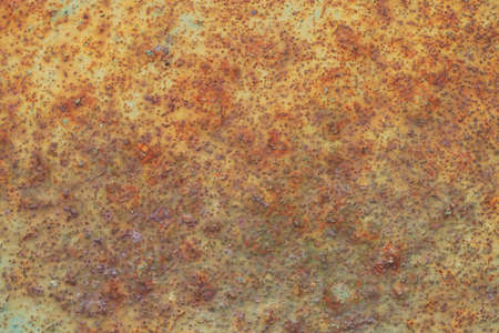 rusty and old background with empty area for support text. damage or antique surface from industry workshop. corrosion of steel surface by rusty and will be impact with structure of machine. Stock Photo