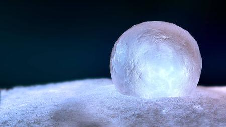 Christmas ice globe