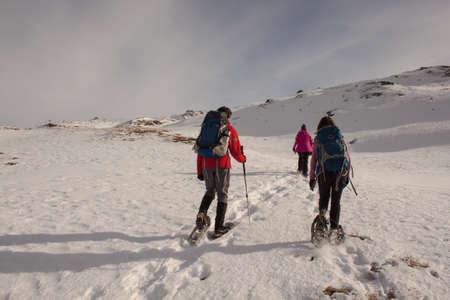 snowshoeing: Snowshoeing