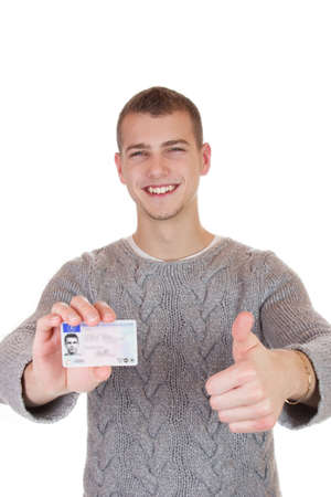 18 year old: 16 to 18 year old boy just received his driver license