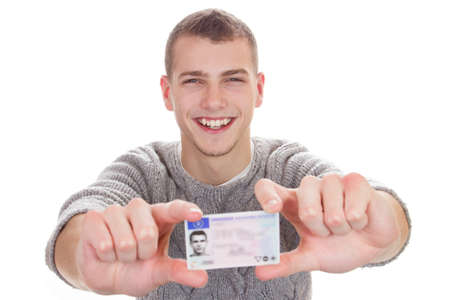 drivers license: 16 to 18 year old boy just received his driver license