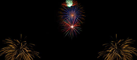panoply: Very large firework background with 100 percent pure black