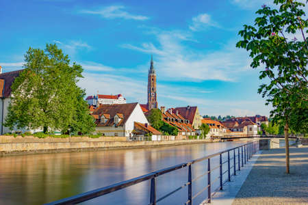 landshut: Landshut, Germany in Bavaria Stock Photo