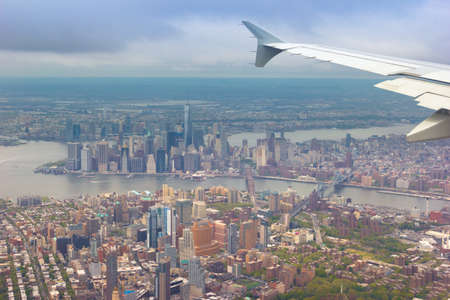 Great shot of NYC during daylight from an airplane