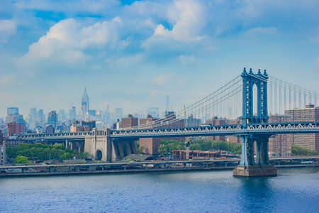 Great daylight shot in New York City from the Brooklyn Bridge