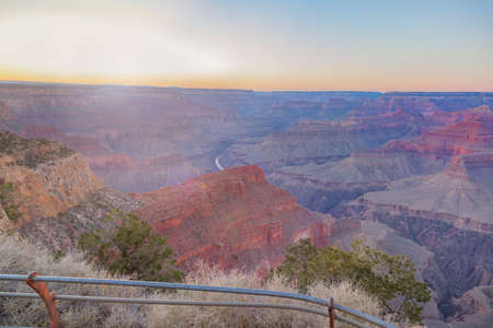 Amazing panorama view of the Grand Canyon next to Hopi Point