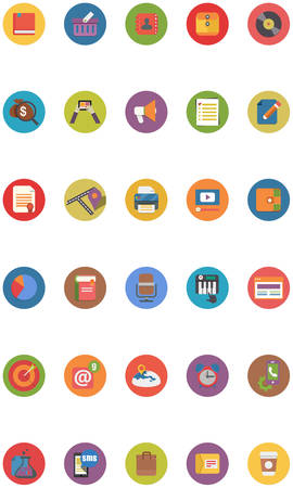 Flat Web Icons Set  30 Royalty-free vector icons for Business Services and Web Internet Marketing Services  Vector