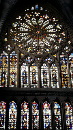 Cathedral stained glass windows of metz